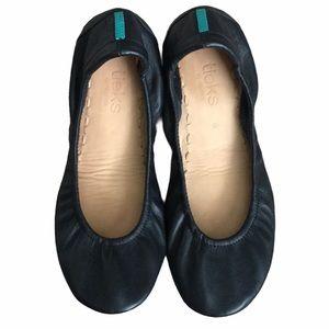 Tieks Black Flats Leather Shoes